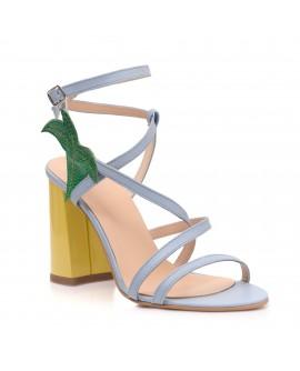 Sandale Dama Piele Bleu Lizi C14  - orice culoare