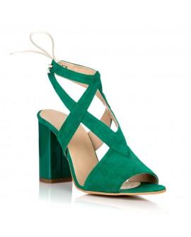Sandale Piele Intoarsa Verde Erika C12 - orice culoare