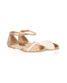 Sandale Dama Sarpe Bej/Auriu Dreamer N12 - orice culoare