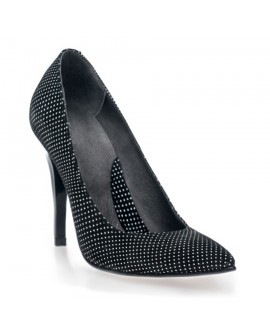 Pantofi Stiletto Negru Buline V10 - orice culoare