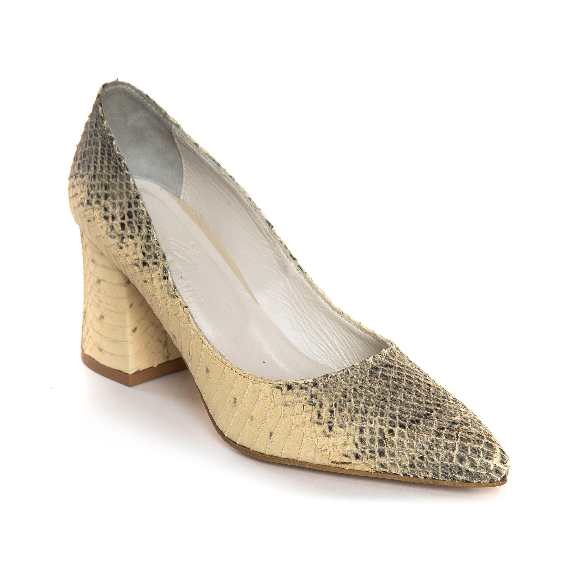 Pantofi Piele Imprimeu Sarpe  Comod E10 - orice culoare