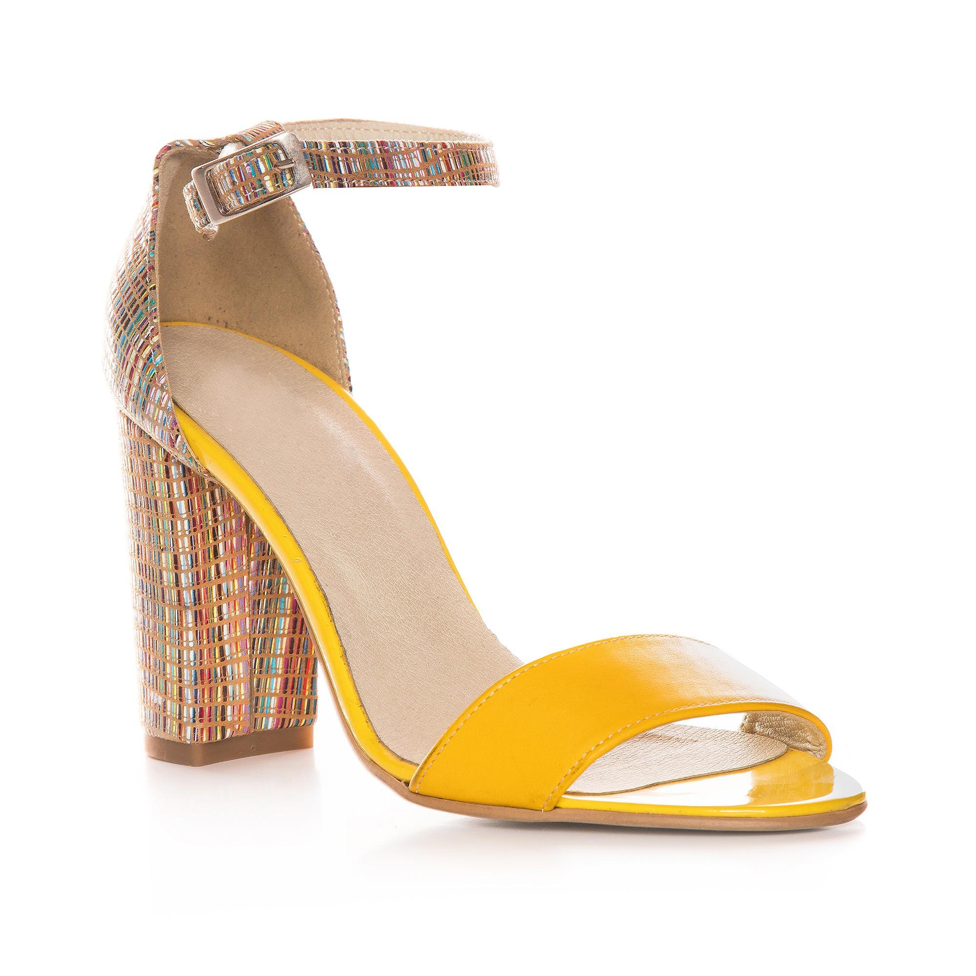 Sandale Dama Piele Galben Duo V10  - orice culoare