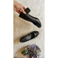 Pantofi piele naturala Office Clasic 2  box negru -pe stoc