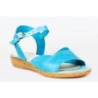 Sandale dama talpa joasa piele Turcoaz P9 - orice culoare