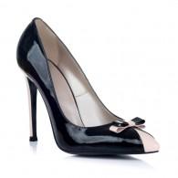 Pantofi Stiletto Lac Negru/Bej Lariss - Orice culoare