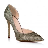 Pantofi Stiletto Decupat Piele Bronz L10 - orice culoare
