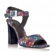 Sandale dama piele Multicolor Albastru Yasmin V8 - Orice culoare