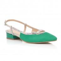 Balerini piele verde Stylish Decupat - orice culoare