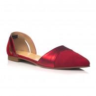 Balerini Piele Rosu Glamour C5 - orice culoare