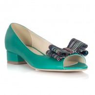 Balerini Piele Verde Decupat Verona L4 - orice culoare