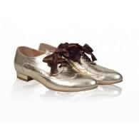 Pantofi Dama Oxford Piele Auriu N14 - orice culoare