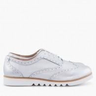Pantofi Piele Oxford Argintii Bristol - Orice culoare