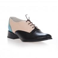 Pantofi Oxford Combi piele naturala, disponibili pe orice culoare - bleu/bej/negru