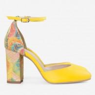 Pantofi Piele Galben Scarlet D63  - orice culoare
