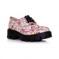 Pantofi Dama Piele Alb Debbie T2  - orice culoare