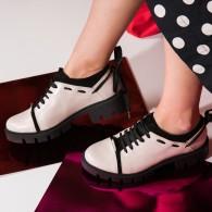 Pantofi Dama Casual Chic cu Siret V20  - orice culoare