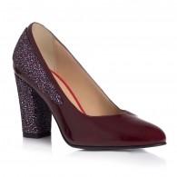 Pantofi Lac Bordo Piele Color Muset T10 - orice culoare