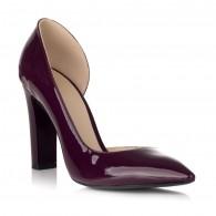 Pantofi Piele Lacuita Marsala Decupat S20 - orice culoare