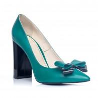 Pantofi Stiletto Toc Gros Turcoaz S1 - orice culoare