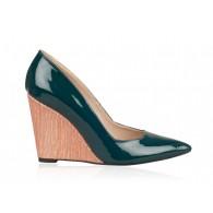 Pantofi Piele cu Platforma Verde N20 - orice culoare