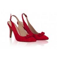 Pantofi Stiletto Decupat Piele Rosu N42 - orice culoare