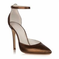 Pantofi Piele Naturala Bronz Sofia L27 - orice culoare