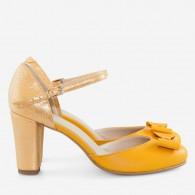 Pantofi piele naturala decupati D32 - orice culoare