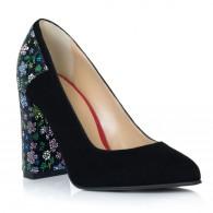 Pantofi Dama Piele Floral Boem T14 - Orice Culoare