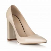 Pantofi Dama Piele Naturala Alb S3 - orice culoare