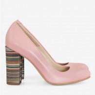 Pantofi Dama Piele Roz Prafuit Fabiola D12 - Orice Culoare