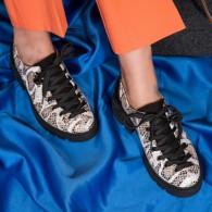 Pantofi Talpa Bocanc Piele Imprimeu Sarpe V70 - orice culoare