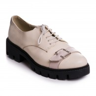 Pantofi Piele Nude Talpa Joasa  V12  - orice culoare