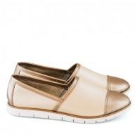 Pantofi dama sport din piele naturala Megan Bej D8 - orice culoare