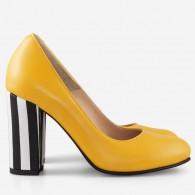 Pantofi Dama Piele Galben Stripes Fabiola D12 - orice culoare
