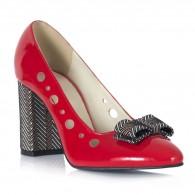Pantofi Lac Rosu Fundita Milen V52 - orice culoare