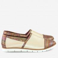 Pantofi dama sport din piele naturala dungi Megan D8 - orice culoare