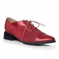 Pantofi Oxford Office piele rosu V19 - orice culoare