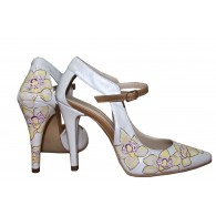Pantofi pictati manual Happy Yellow Flowers - orice culoare