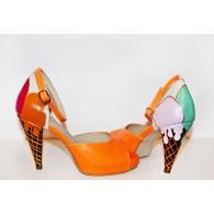 Pantofi Pictati P156 - orice culoare