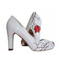 Pantofi pictati manual Red Leaf - orice culoare