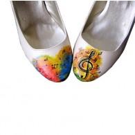 Pantofi pictati manual Sound of Music - orice culoare
