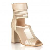 Sandale Piele Bej Gladis C44 - orice culoare