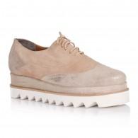 Pantofi Piele Bej Fashion Street I10 - orice culoare