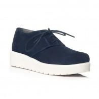 Pantofi piele intoarsa bleumarin Oxford V14 - orice culoare