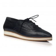 Pantofi piele Oxford Varf ascutit Negru V2  - orice culoare