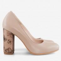 Pantofi Dama Piele Nude Floral Fabiola D12 - orice culoare