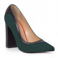 Pantofi Piele Verde Inchis Aisha T29 - Orice Culoare
