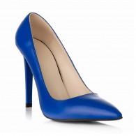 Pantofi Stiletto Piele Albastru Electric S10 - orice culoare