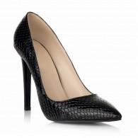 Pantofi Stiletto Piele Croco Negru S10 - orice culoare
