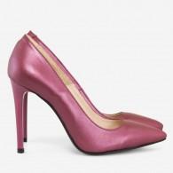 Pantofi Stiletto Piele Marsala Sidef D40 - Orice Culoare